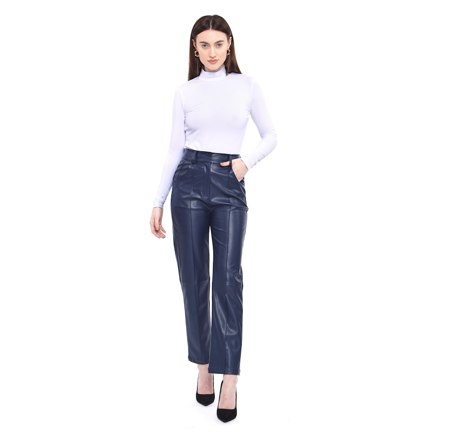 Image 484133_NVY.jpg , Product 484-133 / Price $225.00 , Hilary MacMillan Faux Leather Pants from Hilary MacMillan on TSC.ca's Holiday Gift Shop department