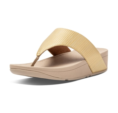 FitFlop Olive Textured Glitz Toe Post Sandal