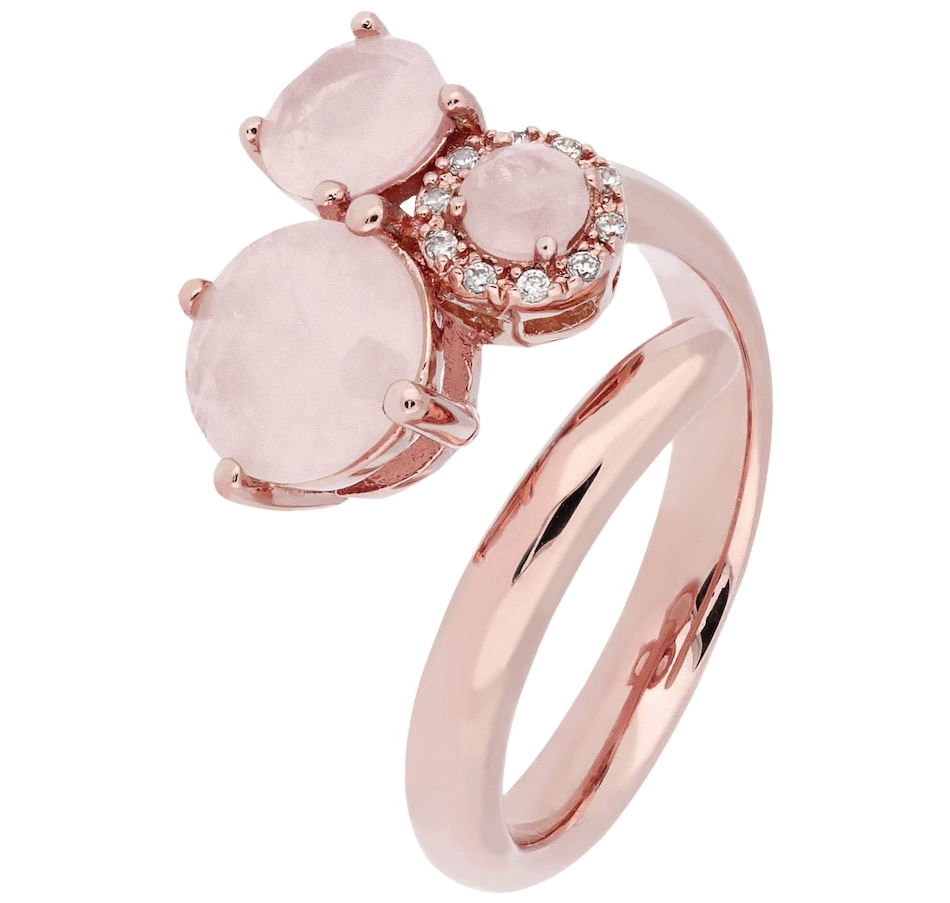 Image 484851.jpg , Product 484-851 / Price $49.88 , Belrose Jewellery Rose Quartz 3 Stone Ring from Belrose on TSC.ca's Jewellery department