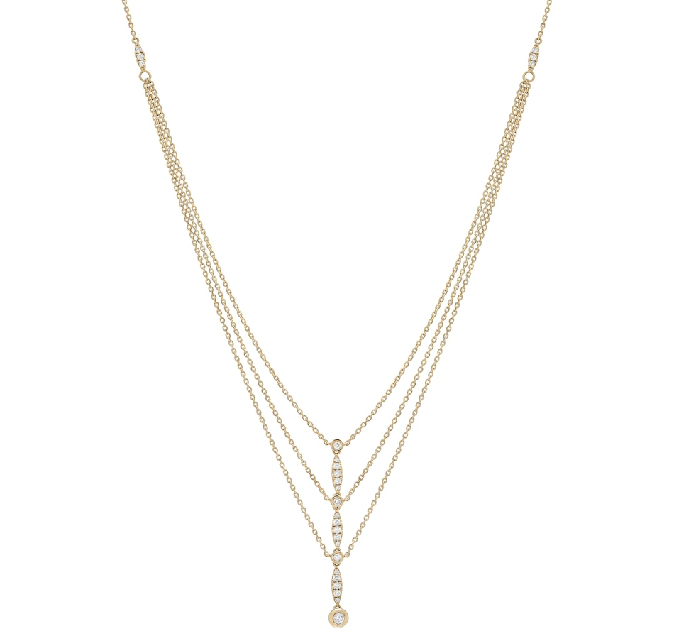 Image 484919.jpg , Product 484-919 / Price $2,899.99 , 18K Yellow Gold 0.31ctw Diamond Layered Necklace from Diamond Show on TSC.ca's Jewellery department