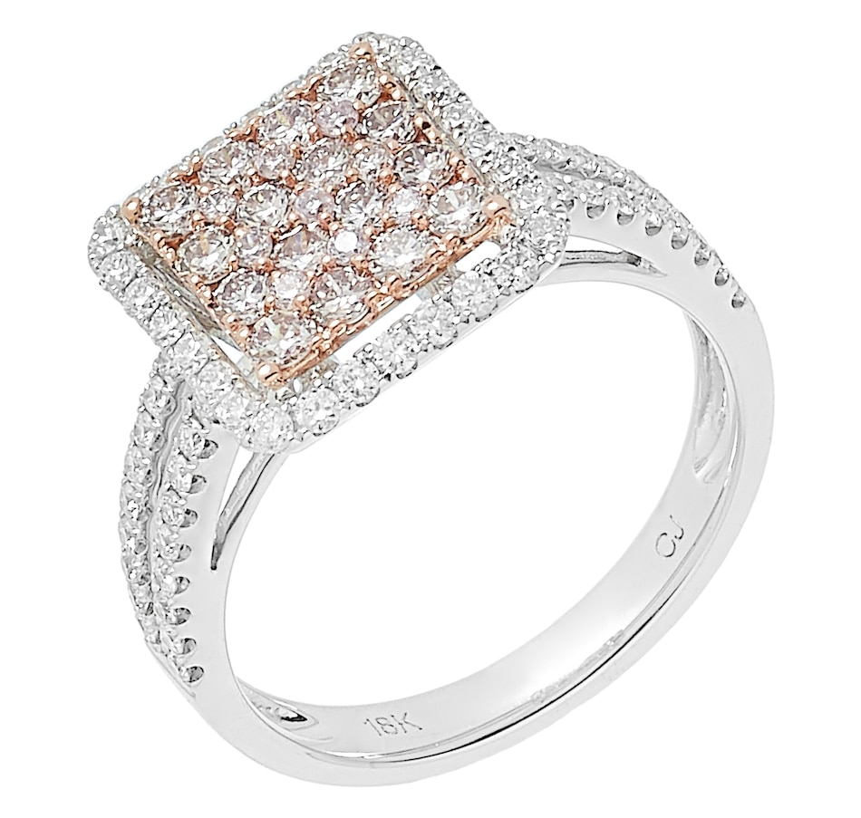 Image 484925.jpg , Product 484-925 / Price $2,599.99 , 18K Two Tone Gold 1.17ctw Fancy Pink & White Diamond Ring from Diamond Show on TSC.ca's Jewellery department