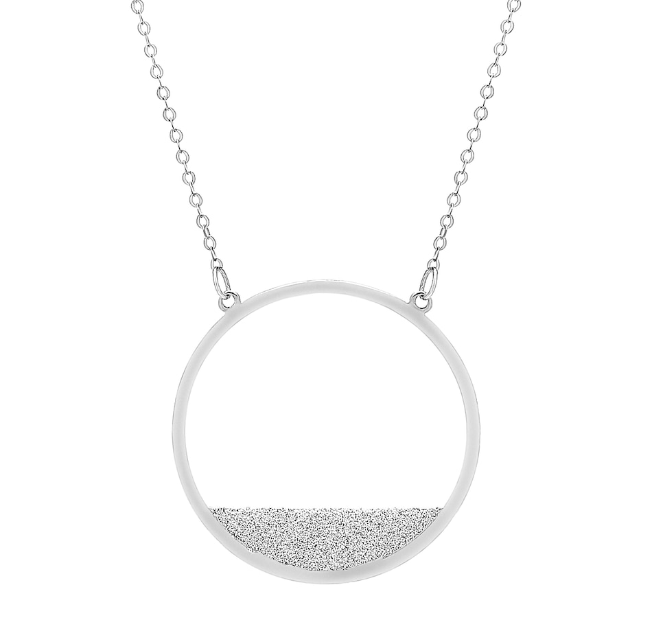 Image 484949_WGL.jpg , Product 484-949 / Price $299.99 , Stefano Oro 14K Gold Polvere Stellata Collection Fancy Circle Necklace from Stefano Oro on TSC.ca's Jewellery department