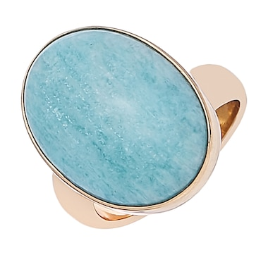 Alchemía by Charles Albert Amazonite Adjustable Ring