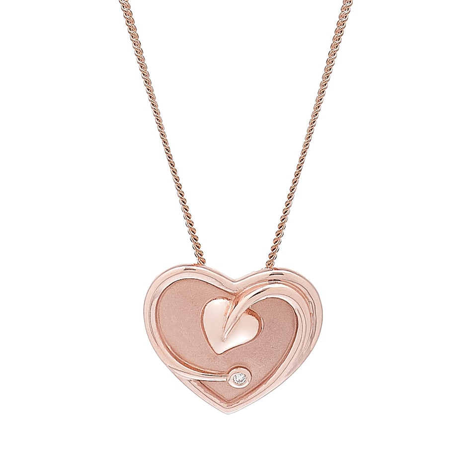 Image 485398.jpg , Product 485-398 / Price $859.99 , Clogau Gold 10K Gold and Diamond Tree of Life Heart Pendant with Chain from Clogau Gold on TSC.ca's Jewellery department
