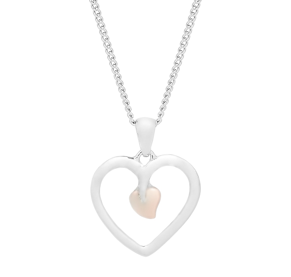 Image 485402.jpg , Product 485-402 / Price $199.99 , Clogau Gold Sterling Silver and 10K Gold Tree of Life Heart Pendant with Chain from Clogau Gold on TSC.ca's Jewellery department