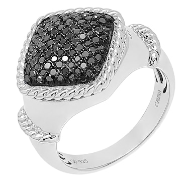 Colours of Diamonds Sterling Silver 0.20 ctw Fancy Colour Diamond Ring