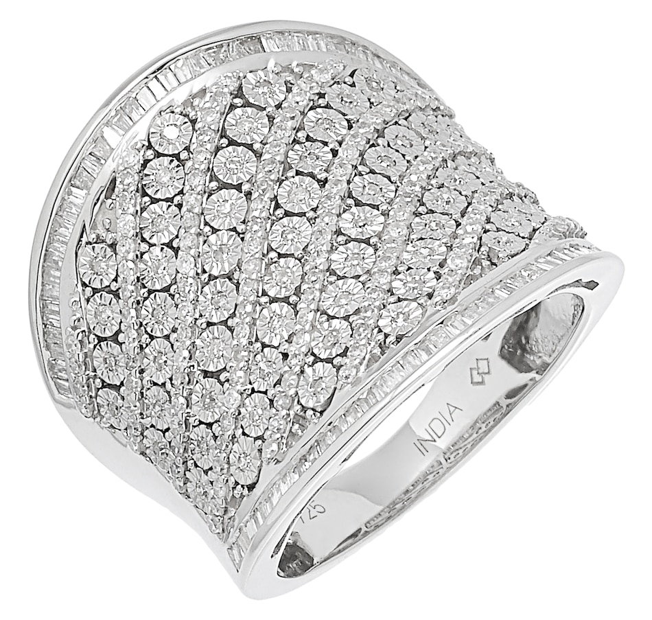 Image 485537.jpg , Product 485-537 / Price $699.99 , Colours of Diamonds Sterling Silver 1.00 ctw White Diamonds Ring from Colours of Diamonds on TSC.ca's Jewellery department