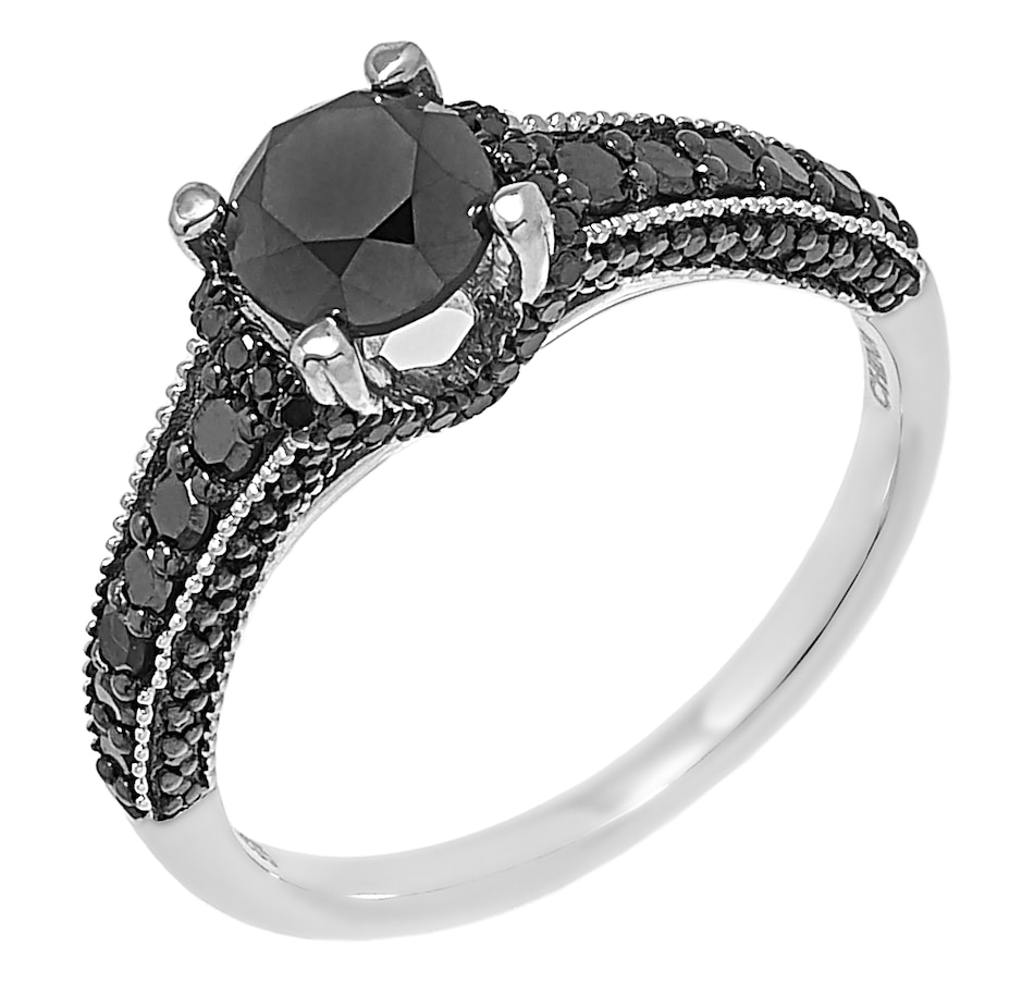 Image 485540.jpg , Product 485-540 / Price $349.99 , Colours of Diamonds Sterling Silver 1.50 ctw Black Diamond Ring from Colours of Diamonds on TSC.ca's Jewellery department