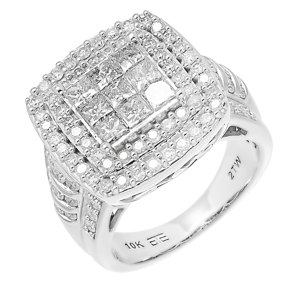 Image 485586.jpg , Product 485-586 / Price $1,499.88 , 10K White Gold 2.00ctw Cushion Shape Diamond Ring from Diamond Show on TSC.ca's Jewellery department