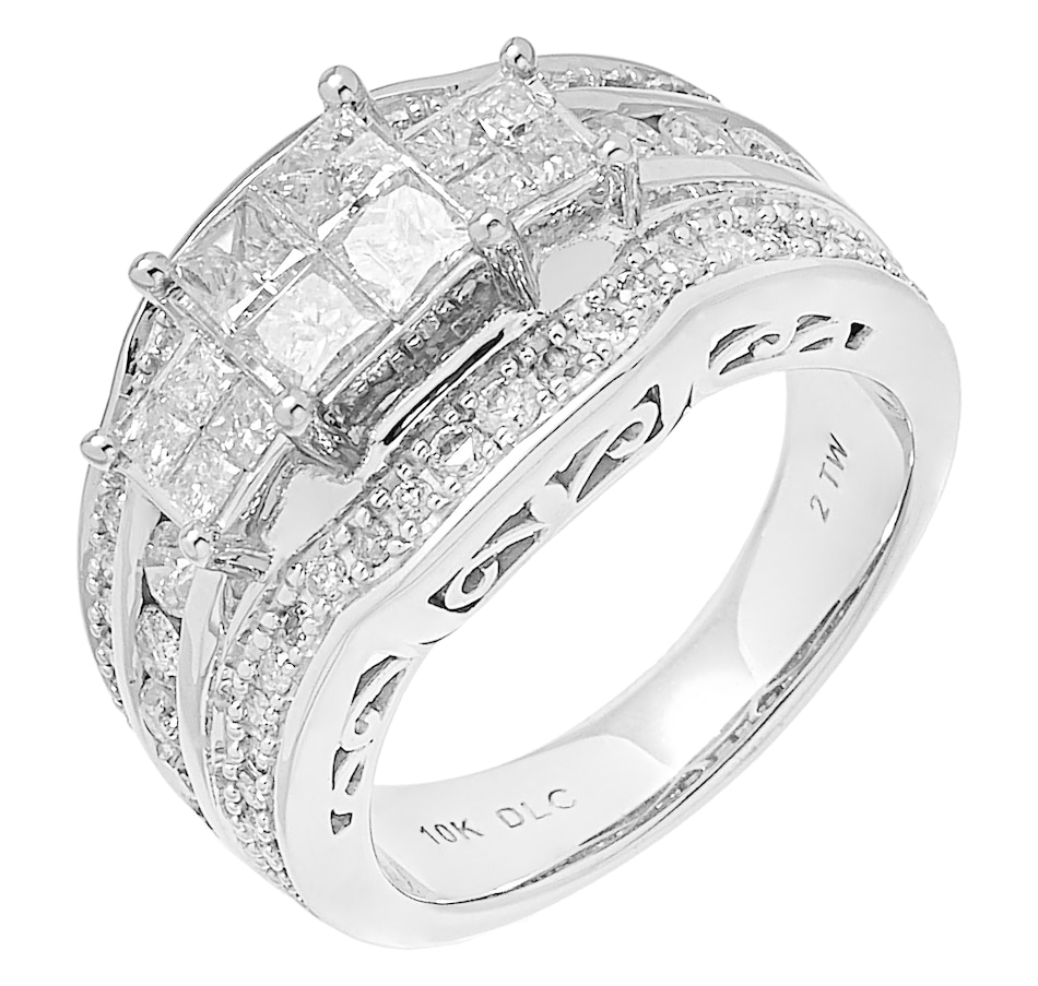 Image 485590.jpg , Product 485-590 / Price $1,999.99 , 10K White Gold 2.06ctw Multi Row Diamond Ring from Diamond Show on TSC.ca's Jewellery department