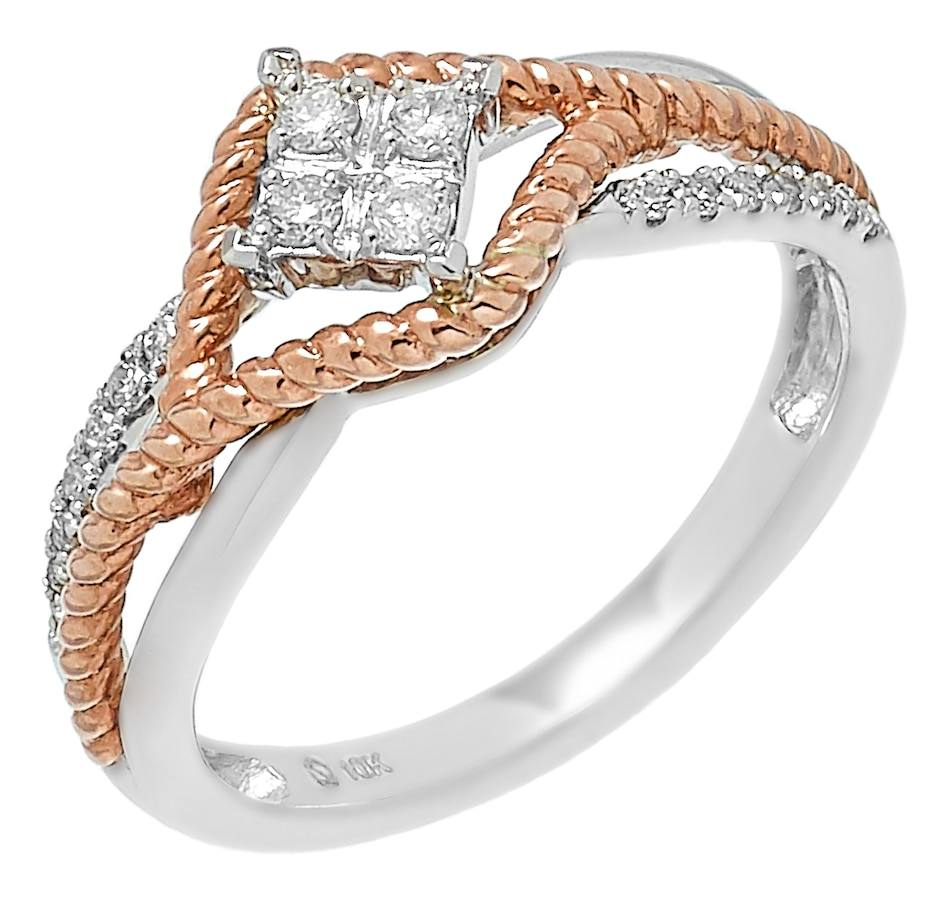 Image 485597.jpg , Product 485-597 / Price $299.99 , 10K Two Tone Gold 0.20ctw Diamond Ring from Diamond Show on TSC.ca's Jewellery department