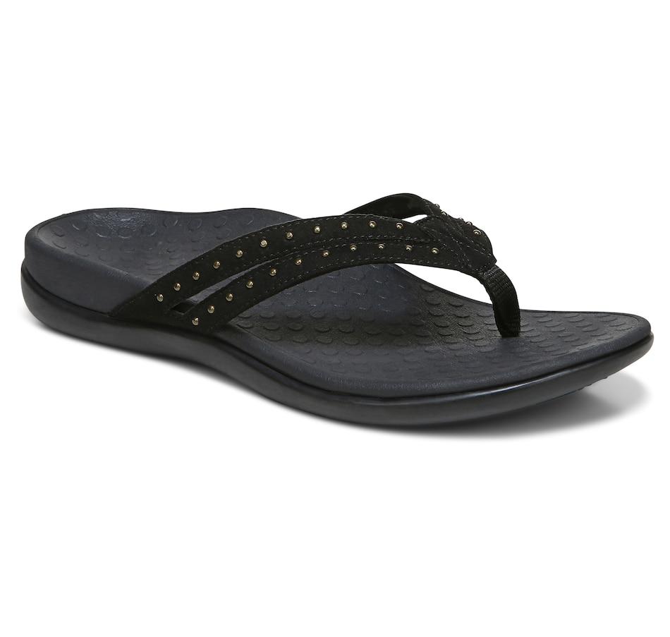Image 485732_BLK.jpg , Product 485-732 / Price $99.95 , Vionic Tide Tasha Toe Post Sandal from Vionic on TSC.ca's Shoes & Handbags department