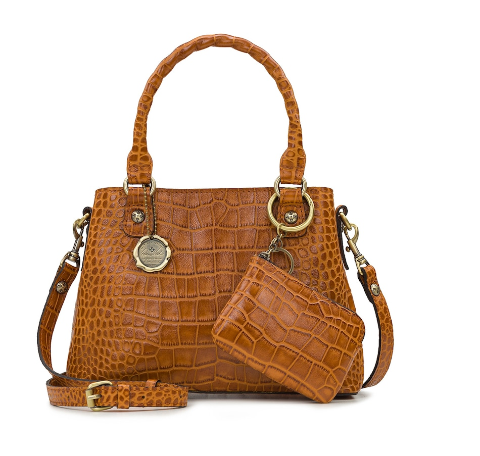 Image 485879_COG.jpg , Product 485-879 / Price $159.99 , Patricia Nash Norcia Satchel with Crossbody Strap and Zip Pouch from Patricia Nash on TSC.ca's Shoes & Handbags department