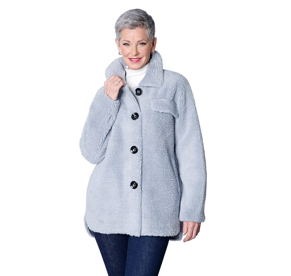 Image 485987_BLU.jpg , Product 485-987 / Price $129.88 , Only Accessories Faux Sherpa Shirt from Only Accessories on TSC.ca's Fashion department