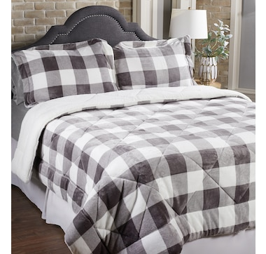 HomeSuite Mink 3-Piece Comforter Set
