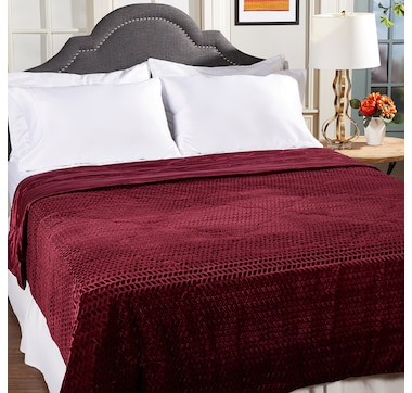 HomeSuite Mink Embossed Reversible Blanket