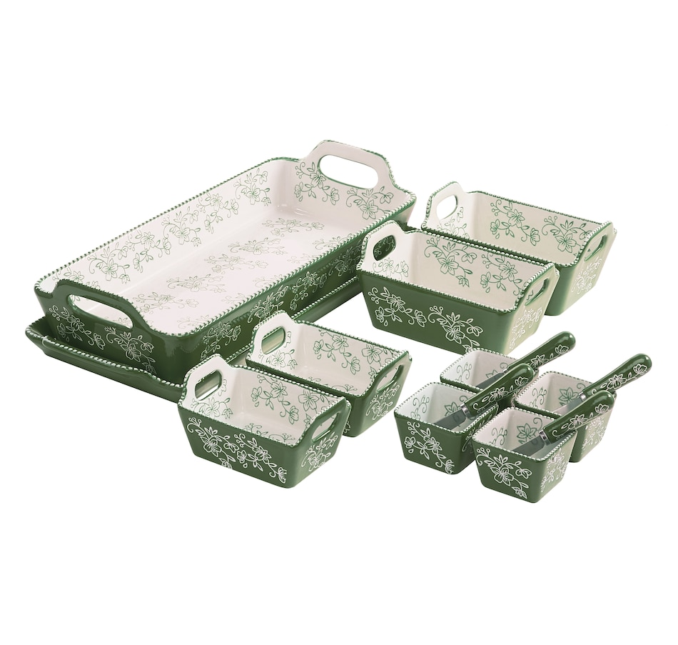 Image 486798_FLGRN.jpg , Product 486-798 / Price $90.00 , temp-tations 14-Piece Essential Bake and Serve Set from Temp-tations on TSC.ca's Kitchen department