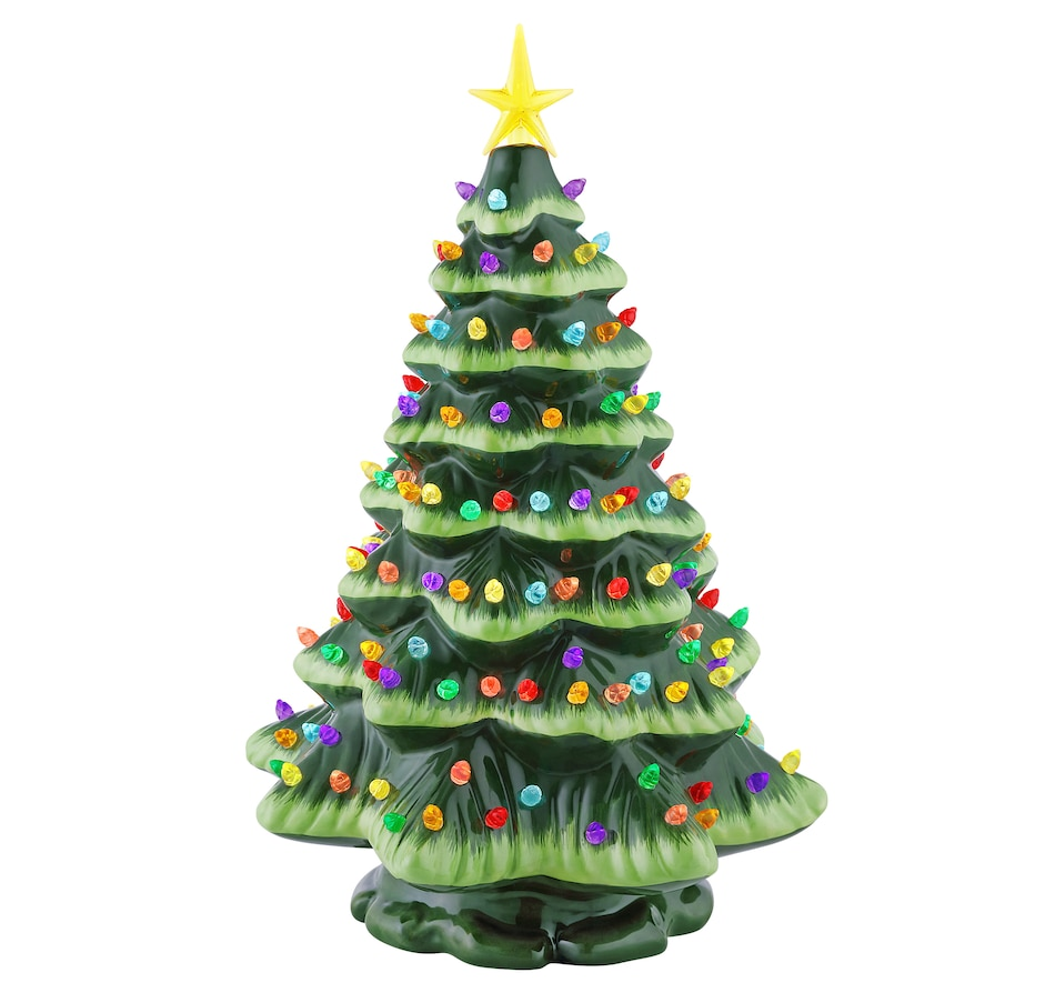 Image 486873_GRN.jpg , Product 486-873 / Price $59.99 , Mr. Christmas Starry Light Ceramic Tree from Mr. Christmas on TSC.ca's Home & Garden department