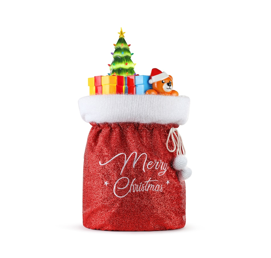 Image 486880.jpg , Product 486-880 / Price $129.99 , Mr. Christmas Blow Mold Santa Bag from Mr. Christmas on TSC.ca's Home & Garden department
