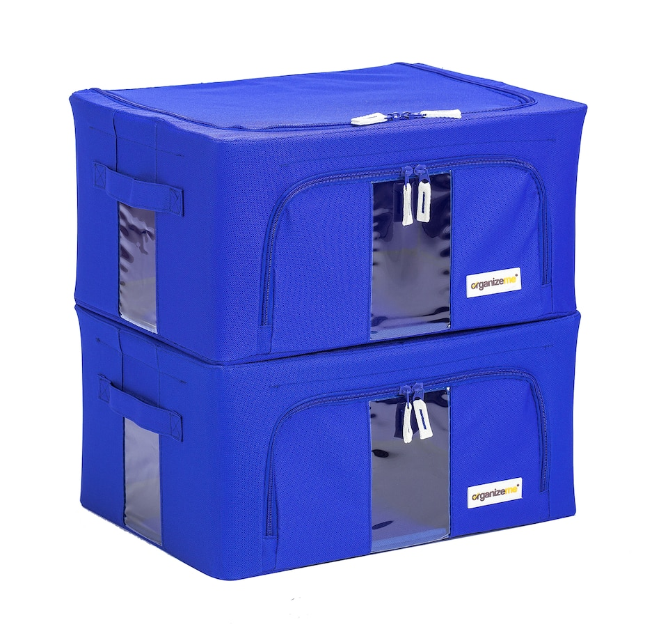 Image 486893_BLU.jpg , Product 486-893 / Price $39.99 , OrganizeMe Small Collapsible Storage Cases - 2-Pack from Organizeme on TSC.ca's Home & Garden department
