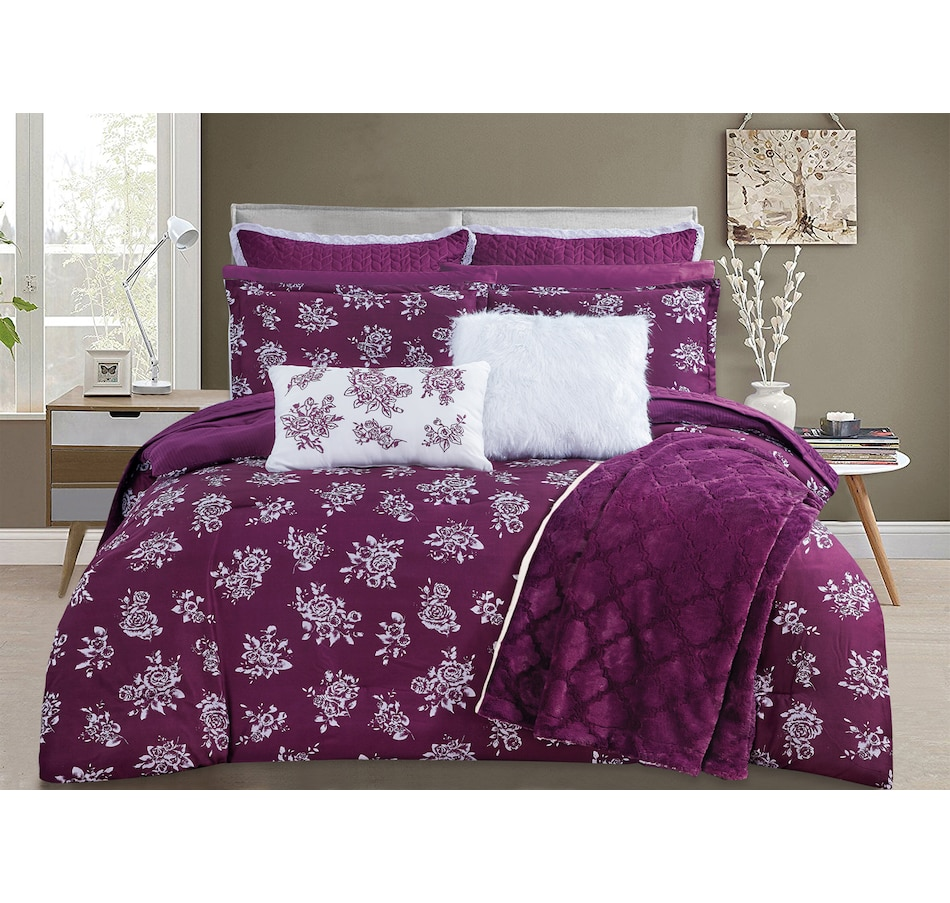 Tsc Ca St Clair Bella Rose Reversible Comforter 3 Piece Set