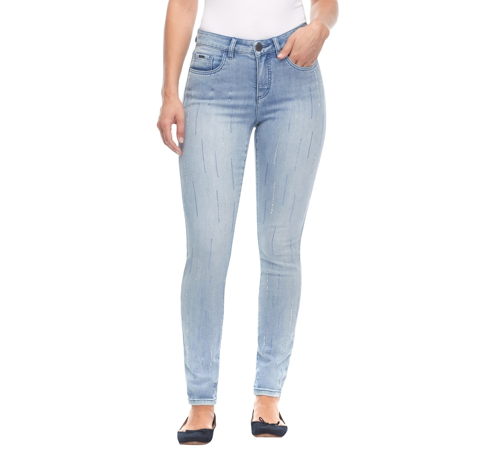Image 487147_LTIND.jpg , Product 487-147 / Price $69.99 , Bellina Olivia Slim Leg Denim with Bling from Bellina on TSC.ca's Fashion department