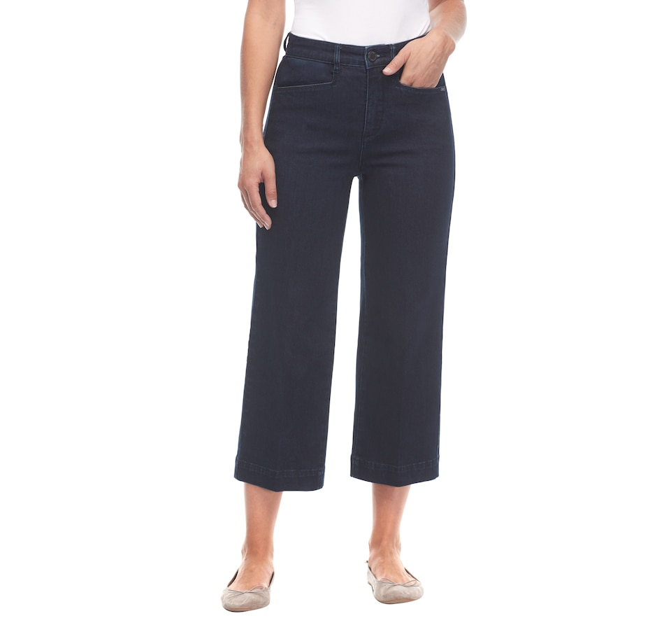 Image 487148_DID.jpg , Product 487-148 / Price $69.99 , Bellina Suzanne Wide Leg Crop Trouser from Bellina on TSC.ca's Fashion department