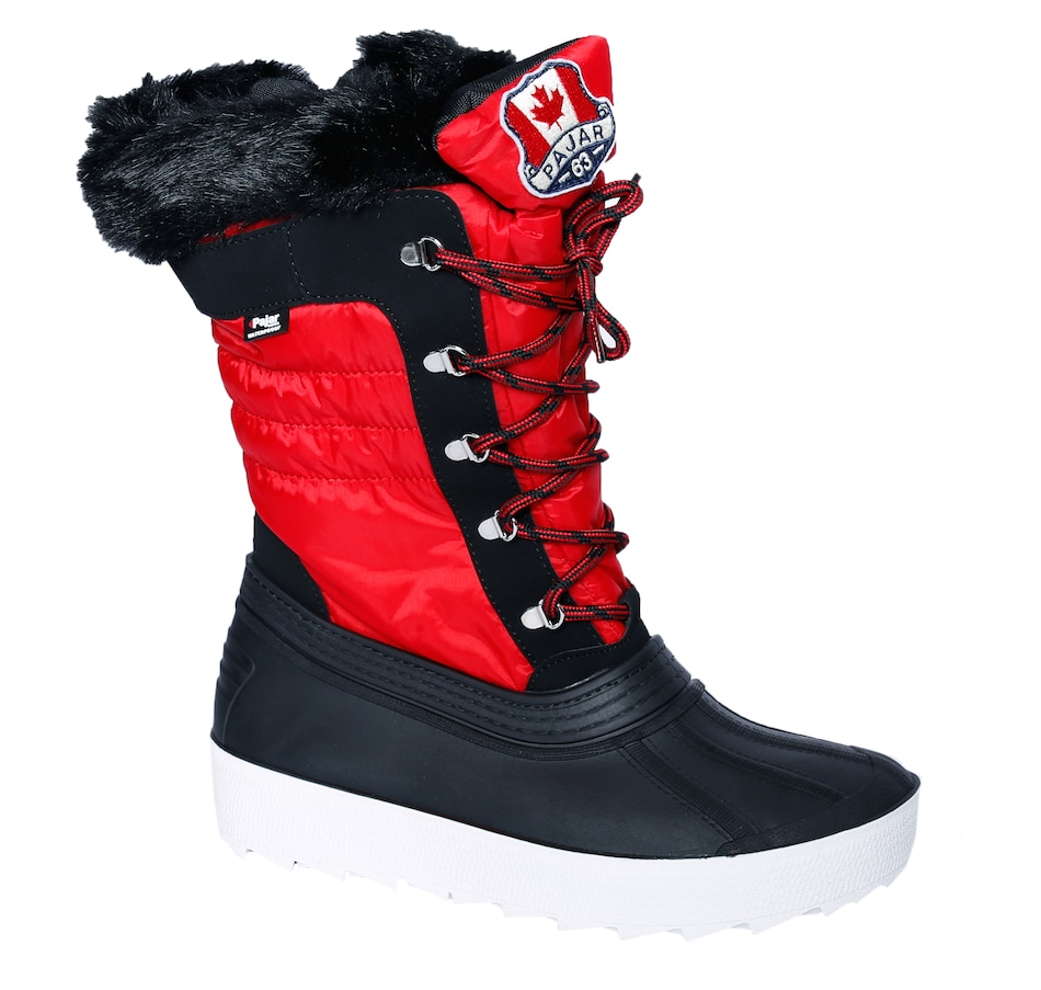 Image 487160_RED.jpg , Product 487-160 / Price $150.00 , Pajar Debby 2.0 Lace Up Boot from Pajar on TSC.ca's Shoes & Handbags department