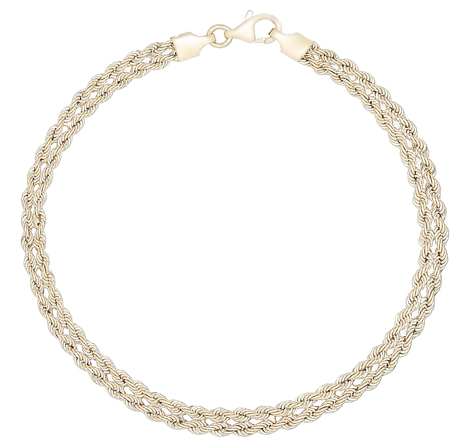 Image 487350.jpg , Product 487-350 / Price $359.99 , Stefano Oro 14K Yellow Gold Cuore Rope Bracelet from Stefano Oro on TSC.ca's Jewellery department