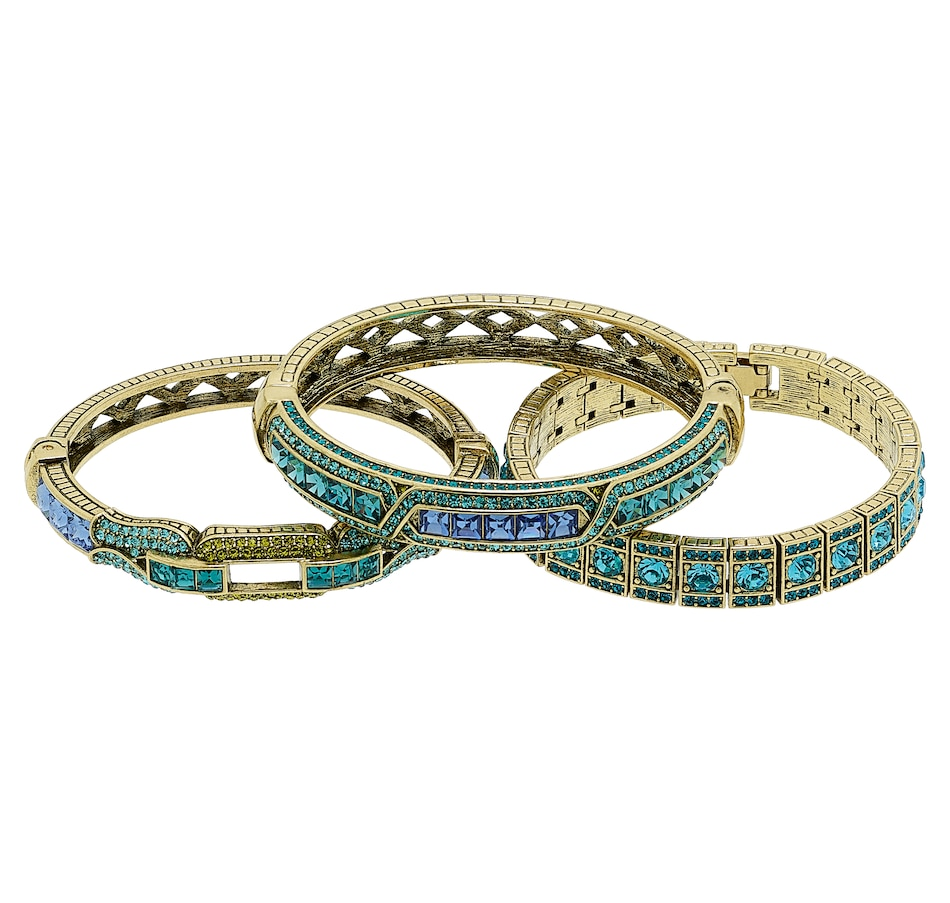 "Image 487352_BLU.jpg , Product 487-352 / Price $129.95 , Heidi Daus ""My Inheritance"" Bracelet Set from Heidi Daus Deco Collection on TSC.ca's Jewellery department"