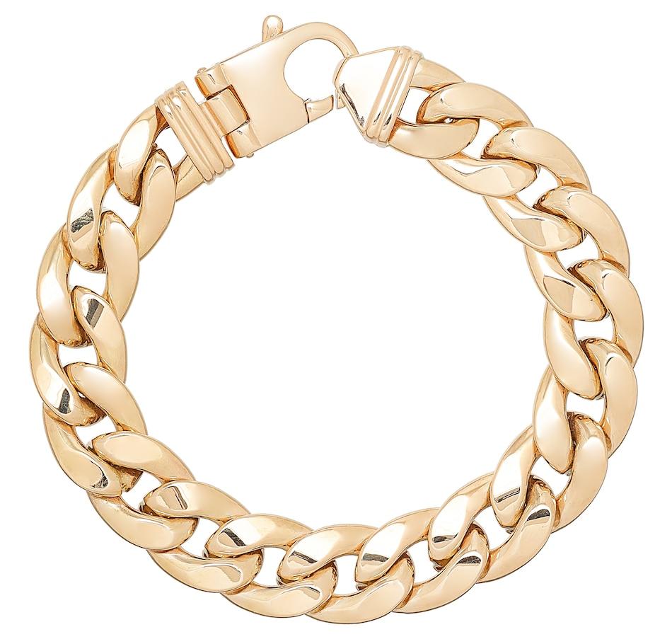 Image 487421.jpg , Product 487-421 / Price $5,999.99 , UNOAERRE 18K Yellow Gold Men's Cuban Chain Bracelet from UnoAErre Jewellery on TSC.ca's Jewellery department