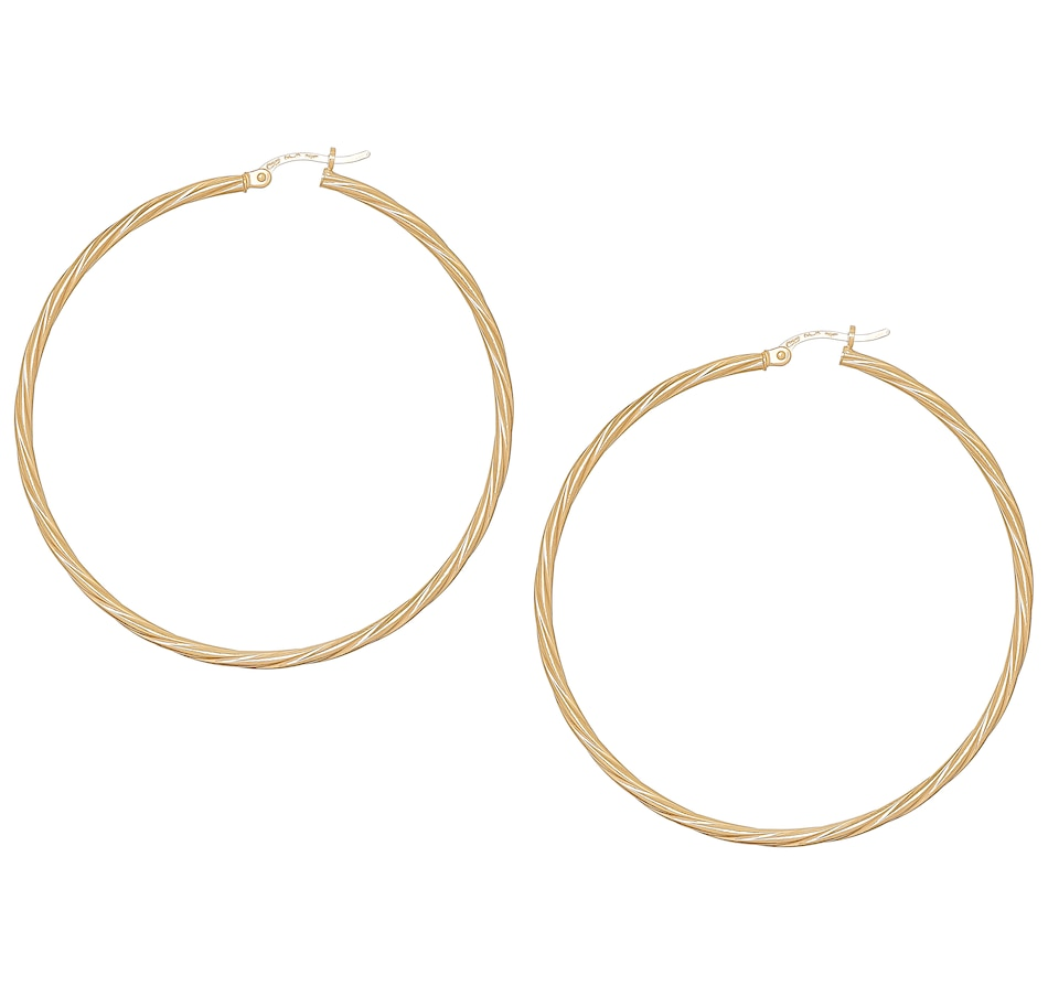 Image 487465.jpg , Product 487-465 / Price $349.99 , UNOAERRE 18K Yellow Gold Twist Hoop Earrings from UnoAErre Jewellery on TSC.ca's Jewellery department
