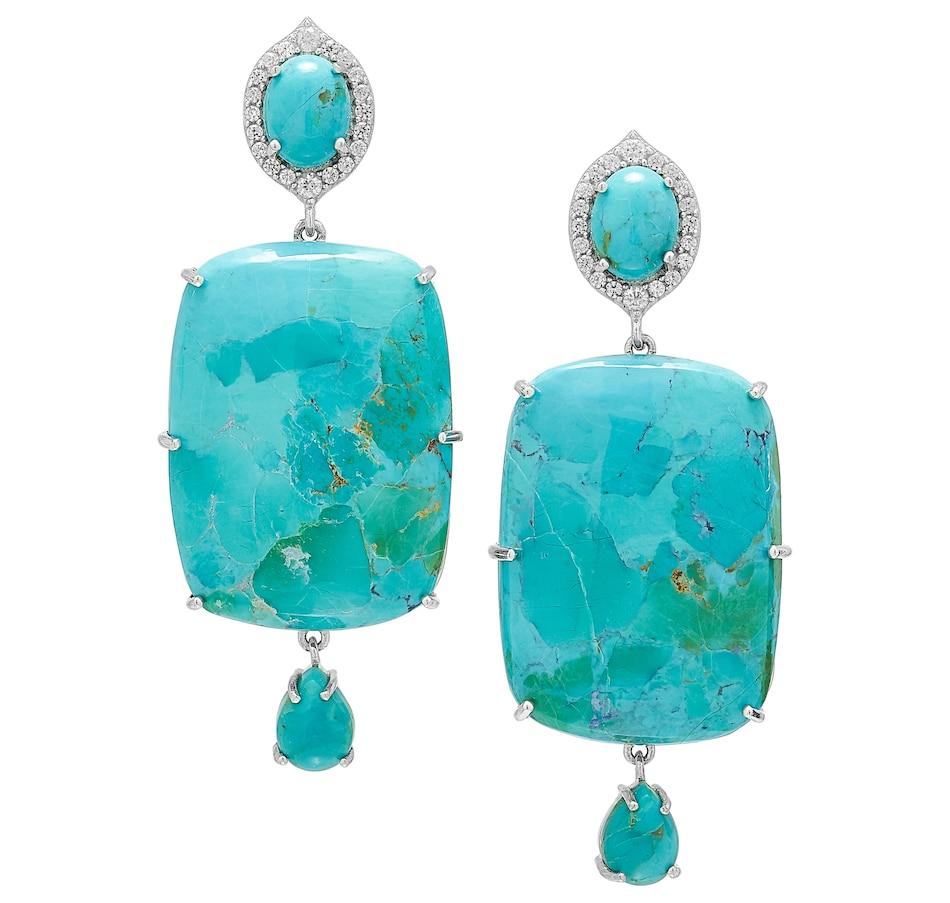 Image 487835.jpg , Product 487-835 / Price $249.88 , Desert Chic Sterling Silver Kingsman Turquoise Earrings from Desert Chic on TSC.ca's Jewellery department