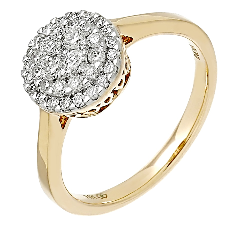 Image 487973_YGL.jpg , Product 487-973 / Price $1,299.99 , 14K Gold 0.52ctw Empress Collection Ring from Diamond Show on TSC.ca's Jewellery department
