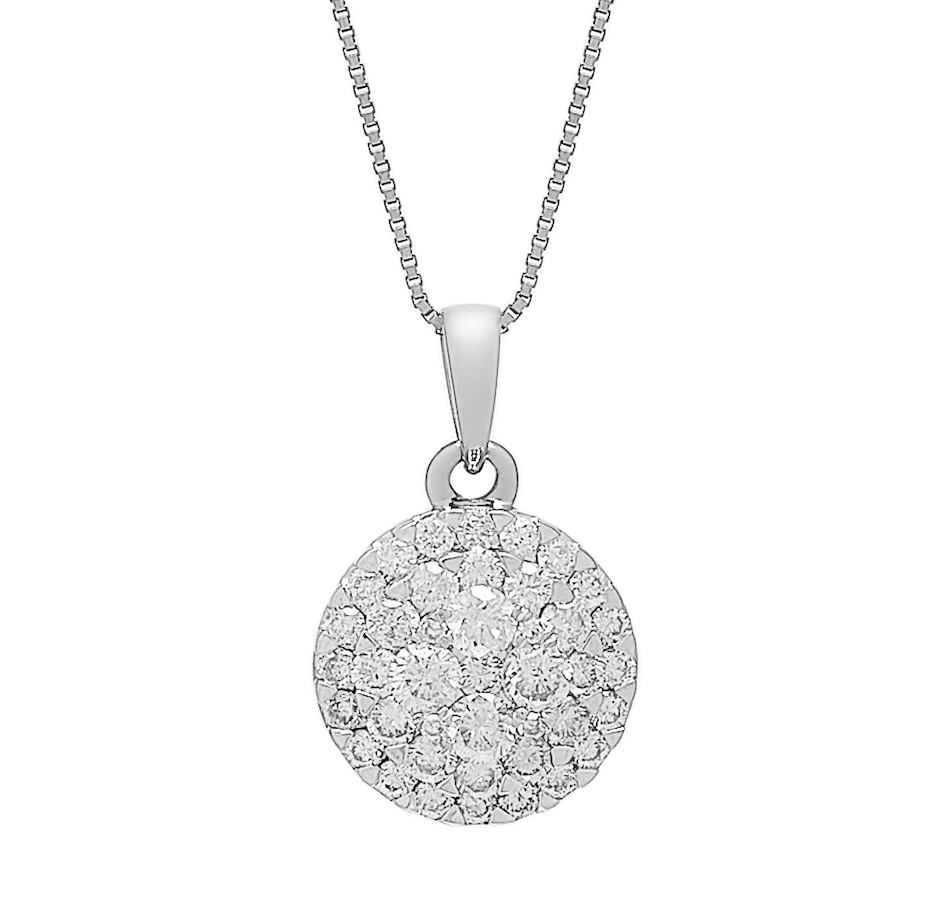 Image 487974_WGL.jpg , Product 487-974 / Price $999.99 , 14K Gold 0.50ctw Empress Collection Pendant with Chain from Diamond Show on TSC.ca's Jewellery department