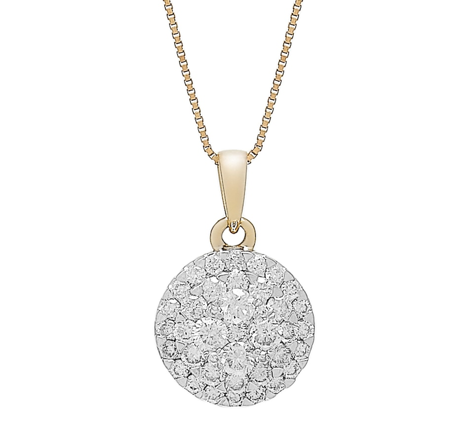 Image 487974_YGL.jpg , Product 487-974 / Price $999.99 , 14K Gold 0.50ctw Empress Collection Pendant with Chain from Diamond Show on TSC.ca's Jewellery department