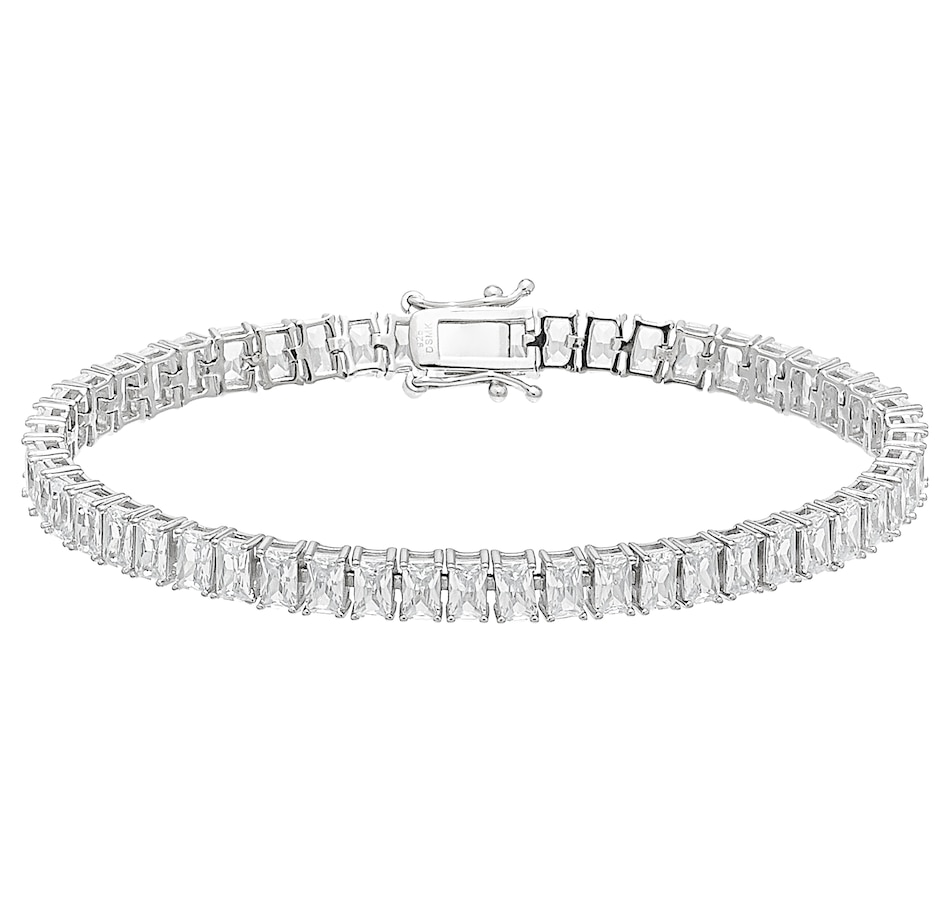 Image 487977_EMR.jpg , Product 487-977 / Price $79.33 , Deborah Freund Designs Sterling Silver Multi Shape Linear Cubic Zirconia Bracelet from Deborah Freund Designs on TSC.ca's Jewellery department