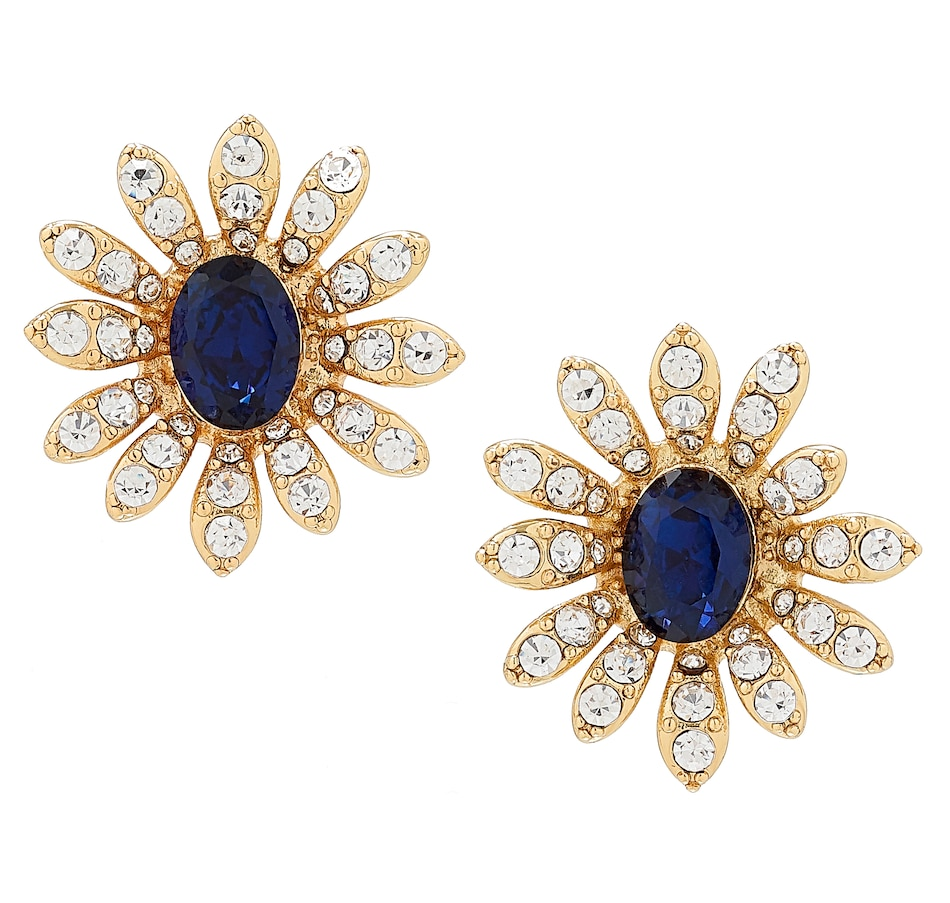 Image 488601_CLP.jpg , Product 488-601 / Price $45.00 , Grace Kelly - Princess of Monaco Collection Sapphire Earrings from Grace Kelly - Princess of Monaco Collection on TSC.ca's Jewellery department