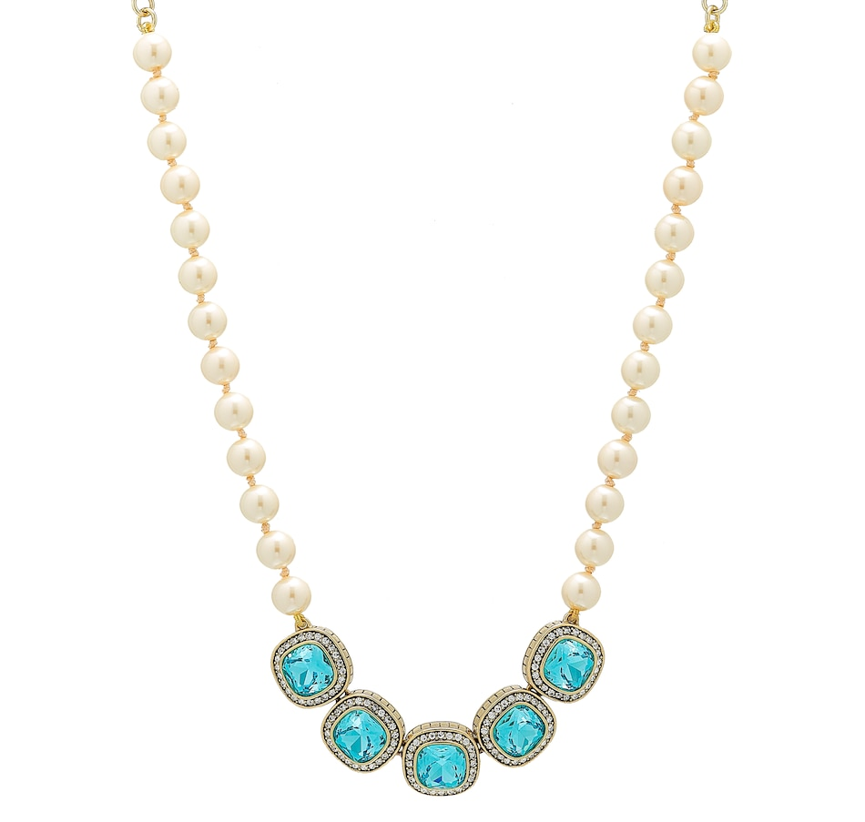 Image 488657_AQU.jpg , Product 488-657 / Price $79.95 , Heidi Daus Captivating Cushion Necklace from Heidi Daus on TSC.ca's Jewellery department