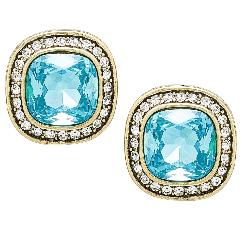 Image 488658_AQU.jpg , Product 488-658 / Price $39.95 , Heidi Daus Captivating Cushion Earrings from Heidi Daus on TSC.ca's Jewellery department