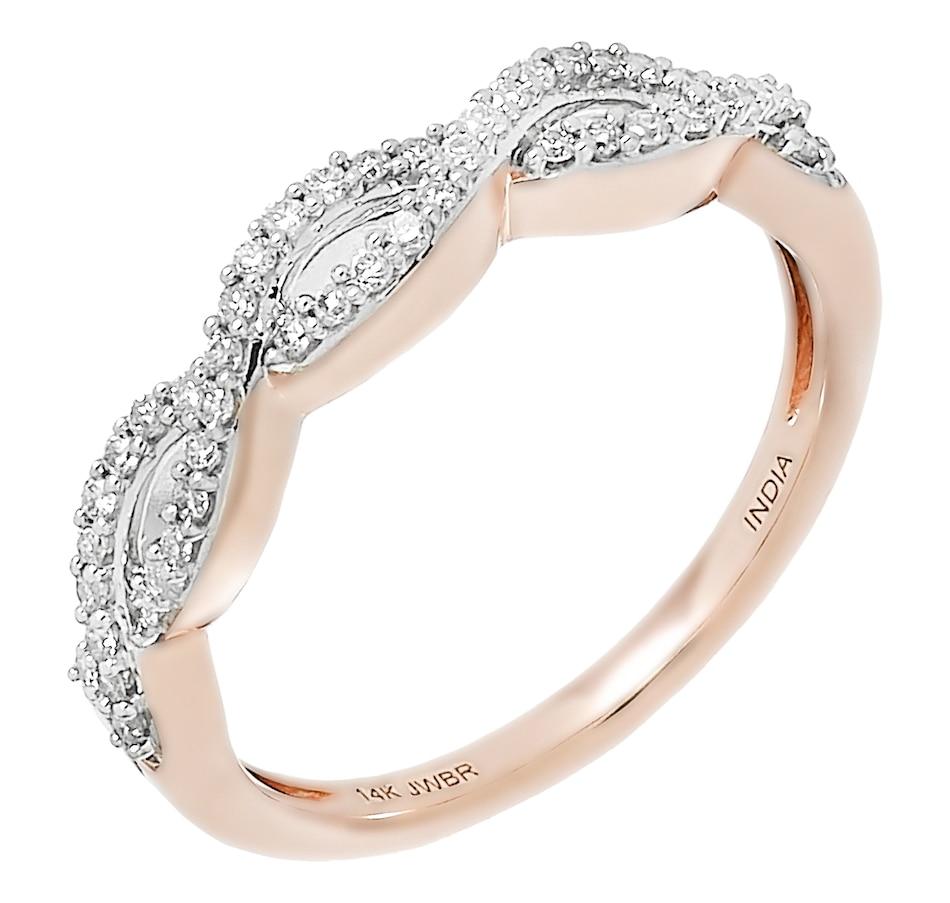 Image 488711_RGL.jpg , Product 488-711 / Price $549.99 , 14K Gold 0.25ctw Twist Diamond Ring from Diamond Show on TSC.ca's Jewellery department