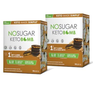 Keto Made Simple No Sugar Keto Bar 12-Count Duo in Peanut Butter - 30-Day Auto Delivery
