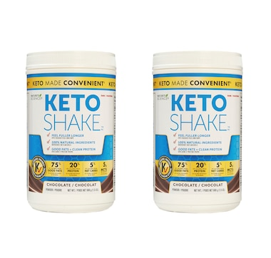 Keto Made Convenient Nature's Science Keto Snack Shake Duo - 30-Day Auto Delivery - Chocolate