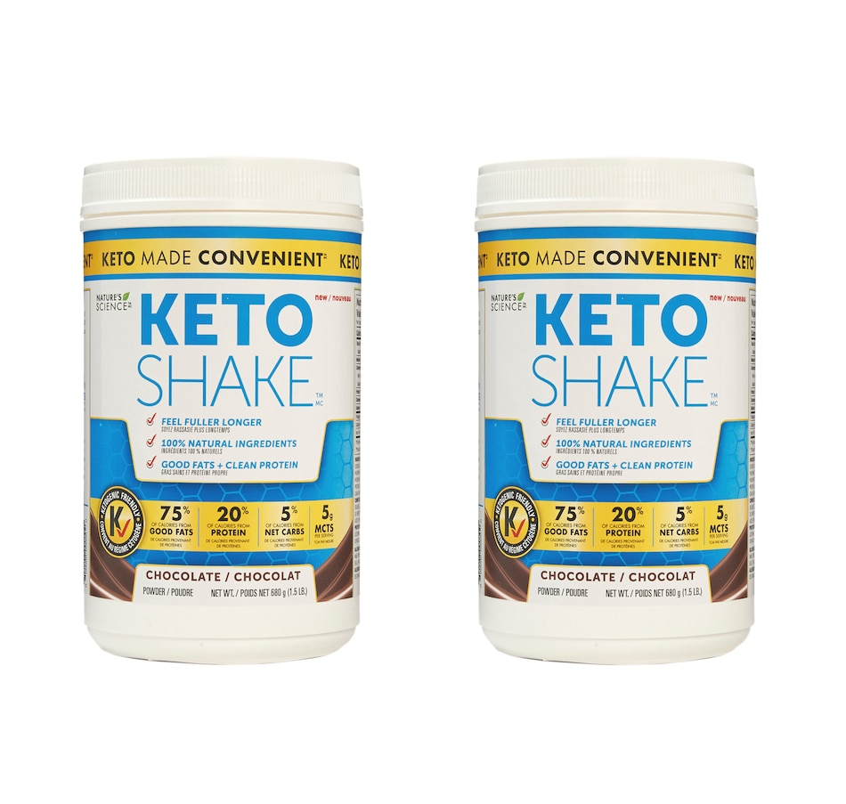 Image 488945.jpg , Product 488-945 / Price $110.00 , Keto Made Convenient Nature's Science Keto Snack Shake Duo - 30-Day Auto Delivery - Chocolate from Keto Made Convenient on TSC.ca's Health & Fitness department