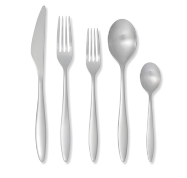 ED Ellen DeGeneres Crafted by Royal Doulton 20-Piece Flatware Set Classic Brushed Stainless Steel