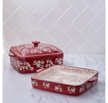 temp-tations Square Bakers with Swing Lid (Set of 2)