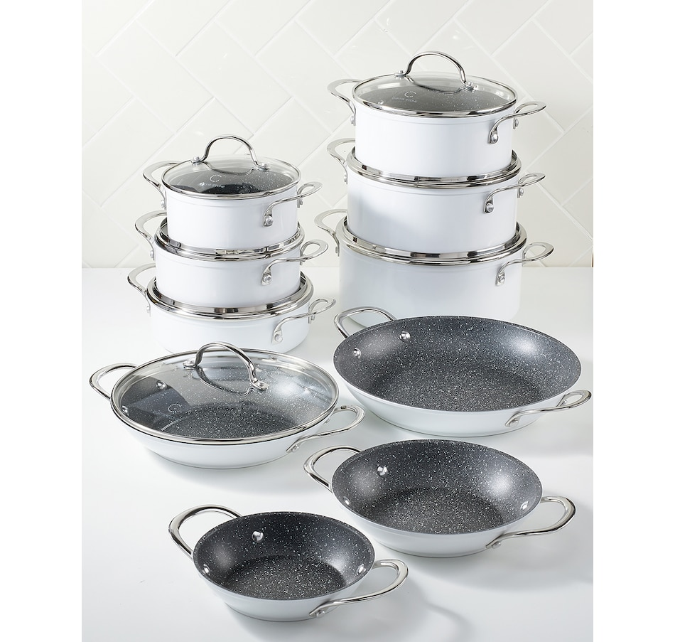 Image 489531_WHT.jpg , Product 489-531 / Price $429.99 , Curtis Stone Dura-Pan 17-Piece Cookware Set from Curtis Stone on TSC.ca's Kitchen department