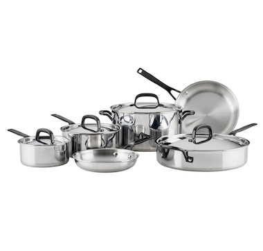 KitchenAid 5-Ply Clad Stainless Steel 10-Piece Cookware Set