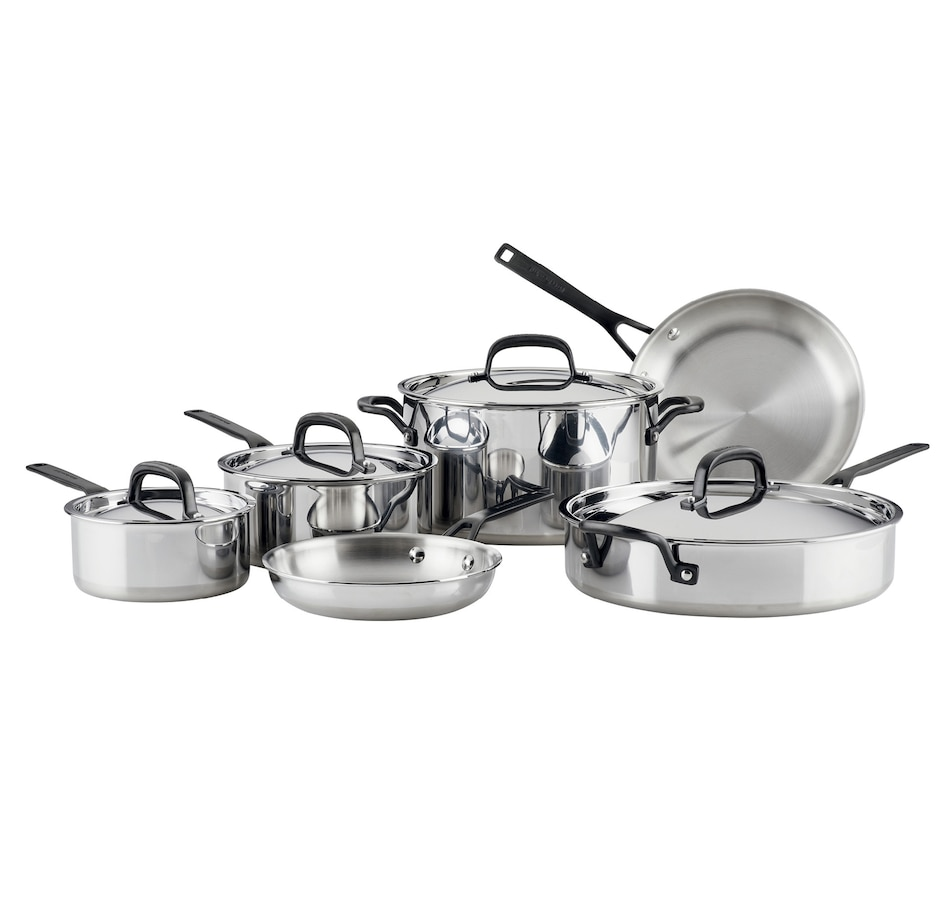 Image 489628.jpg , Product 489-628 / Price $569.99 , KitchenAid 5-Ply Clad Stainless Steel 10-Piece Cookware Set from KitchenAid on TSC.ca's Kitchen department