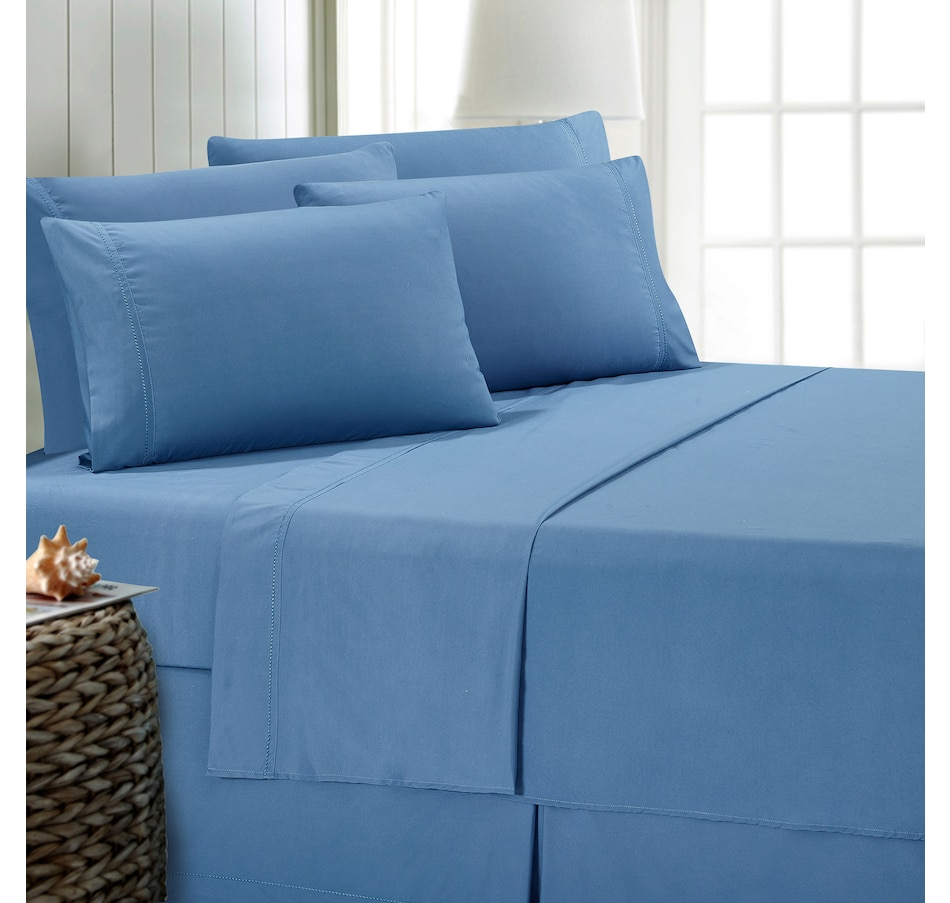 Image 489693_BLU.jpg , Product 489-693 / Price $49.99 , St. Clair Annabelle Sheet Set from St. Clair Bedding on TSC.ca's Home & Garden department